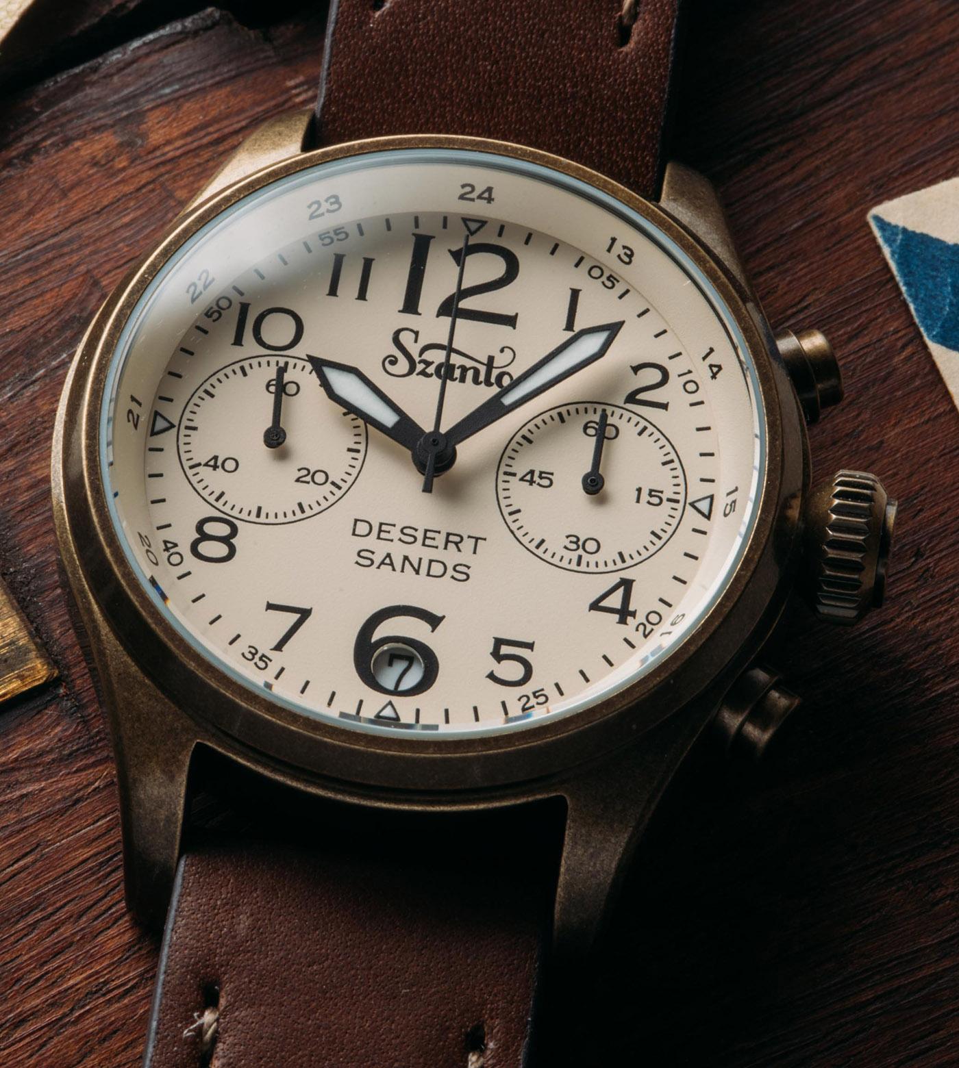 Szanto представляет серию часов с хронографом Desert Sands