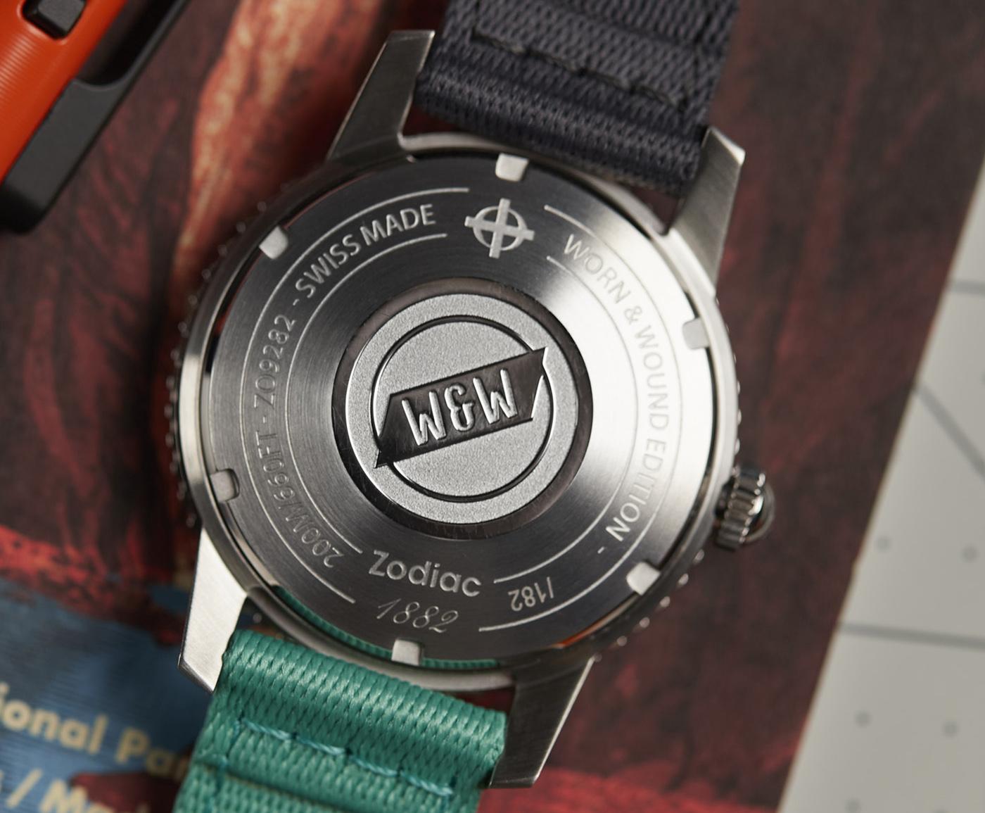 Часы ограниченной серии Worn & Wound X Zodiac Debut Super Sea Wolf