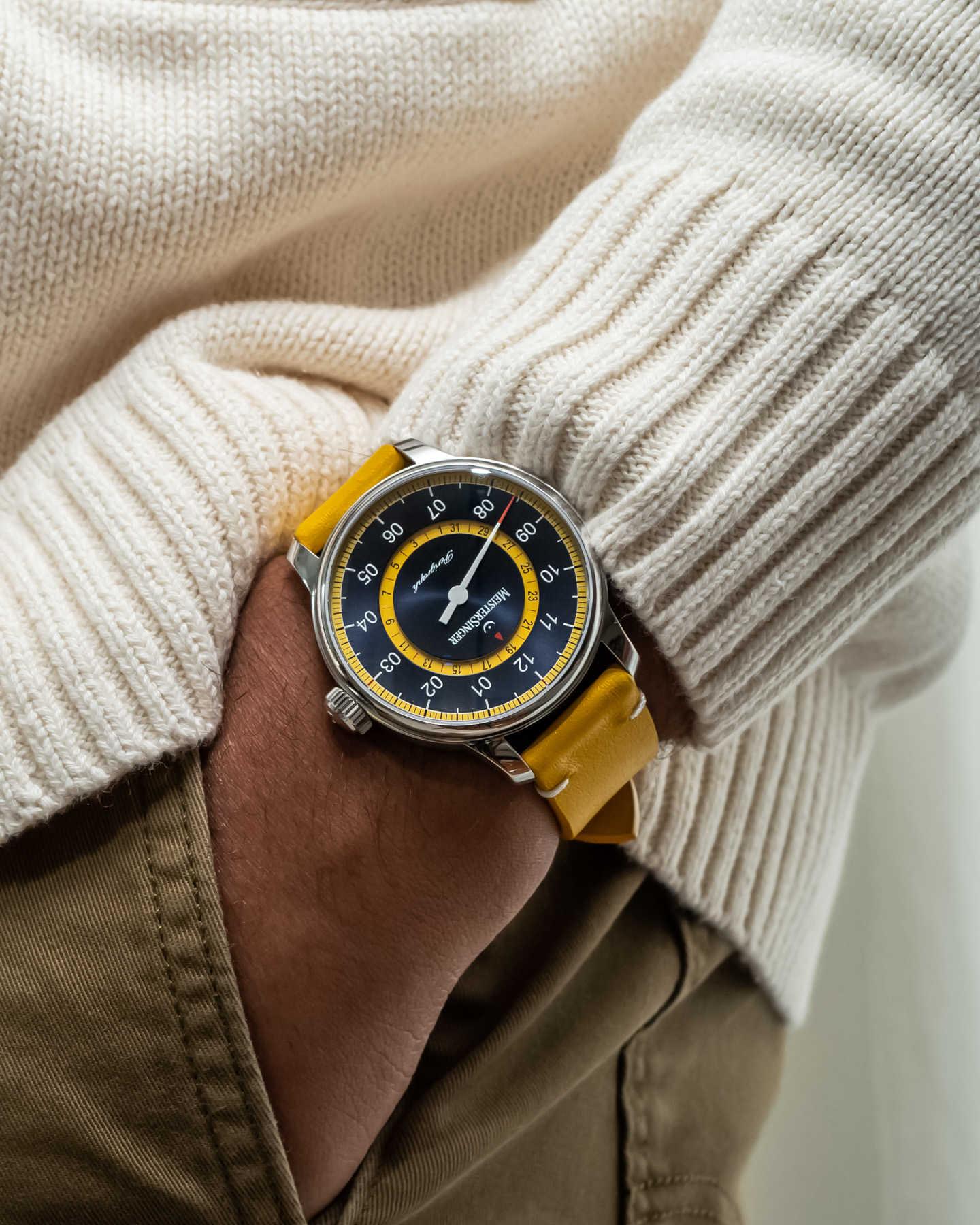 Компания Meistersinger отмечает 20-летие часового дела выпуском модели Perigraph Mellow Yellow