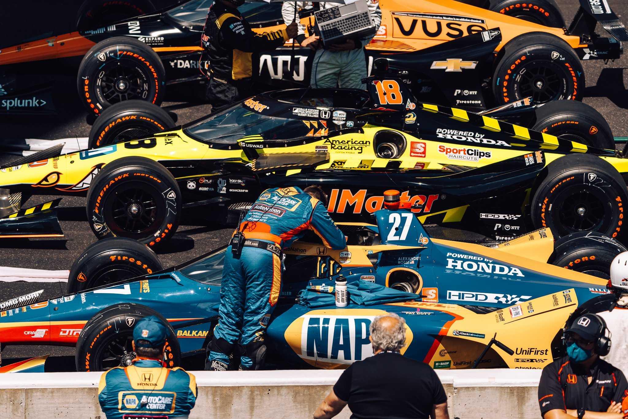 В пит-роу с TAG Heuer на Indy 500 в 2021 году