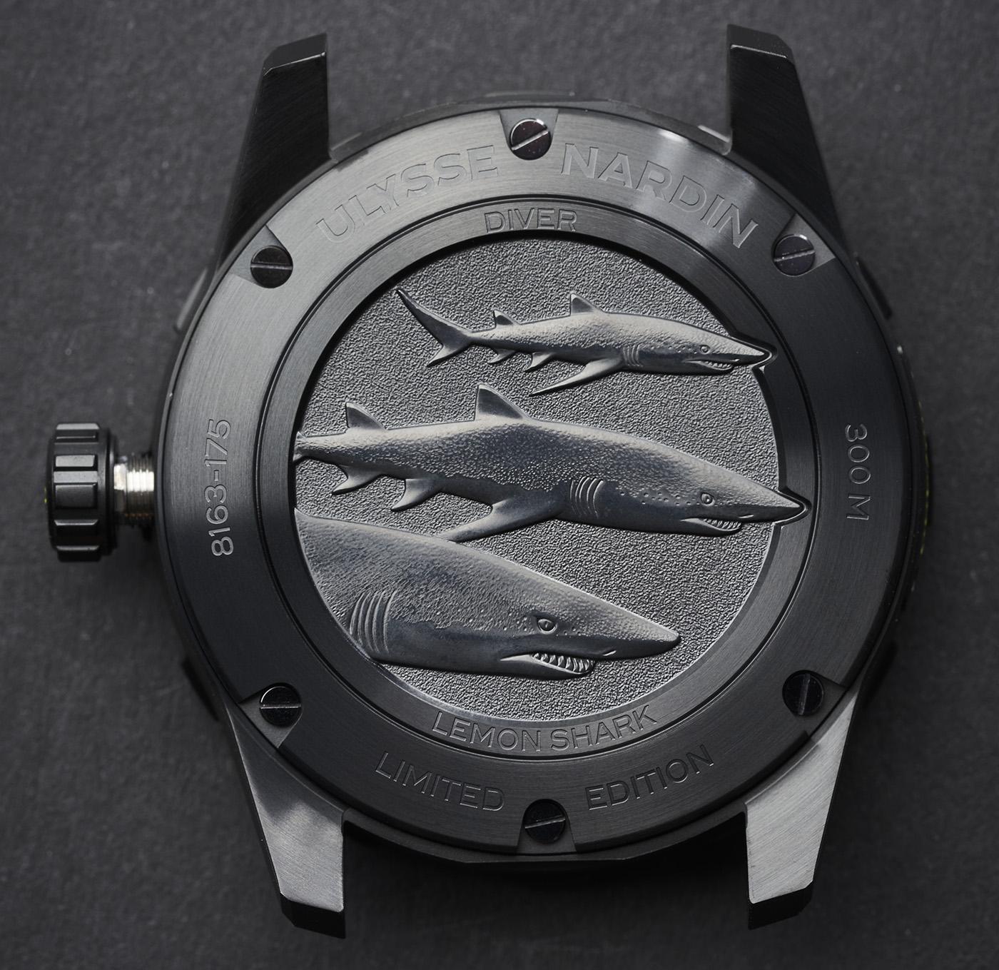 Ulysse Nardin выпускает лимитированную серию часов Diver Lemon Shark Watch