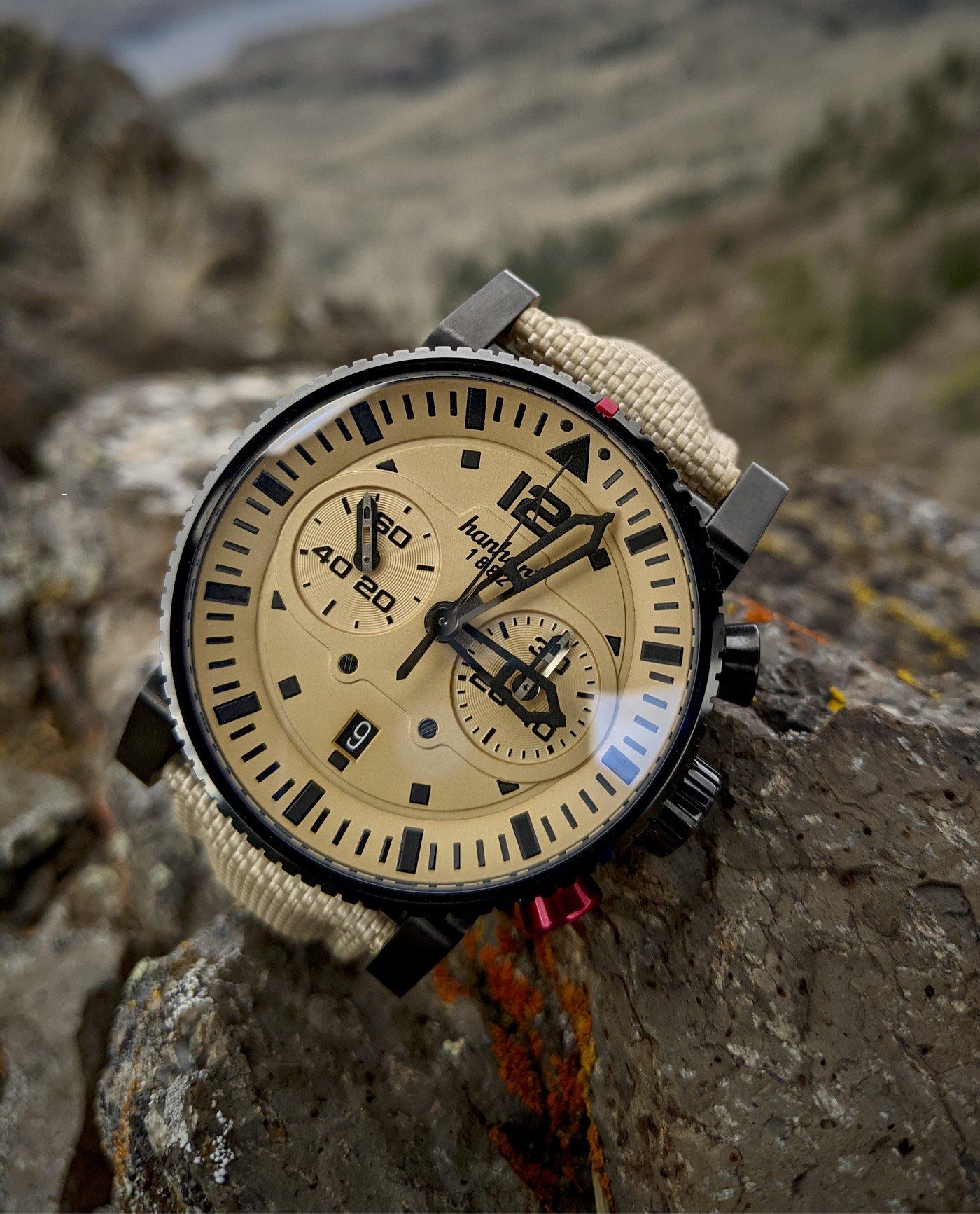 Обзор часов: Hanhart Desert Pilot Dark