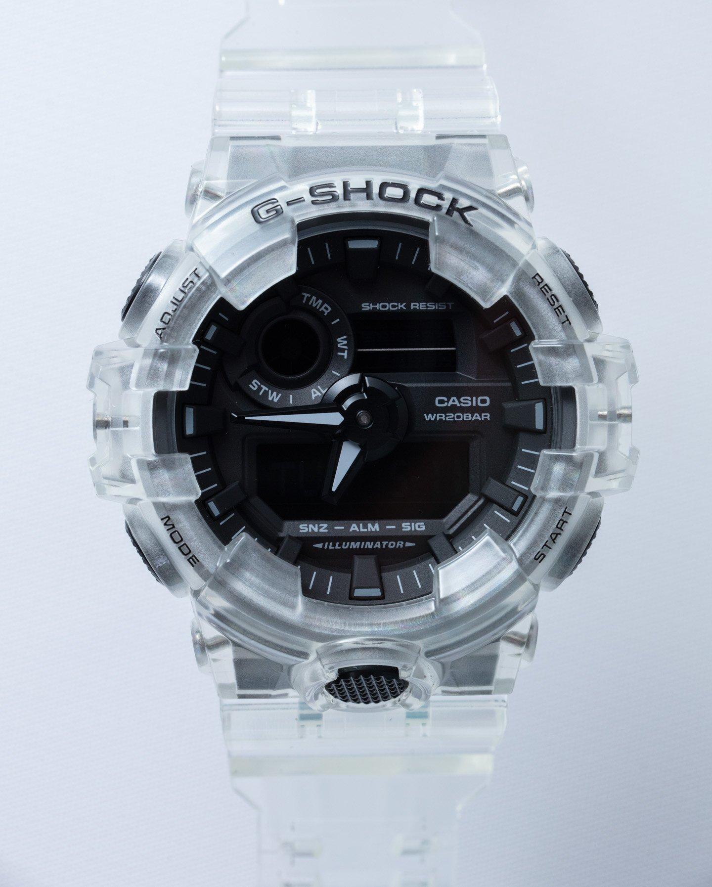 Прозрачные часы Casio G-Shock: Уникальность и удовольствие с часами GA700SKE-7A