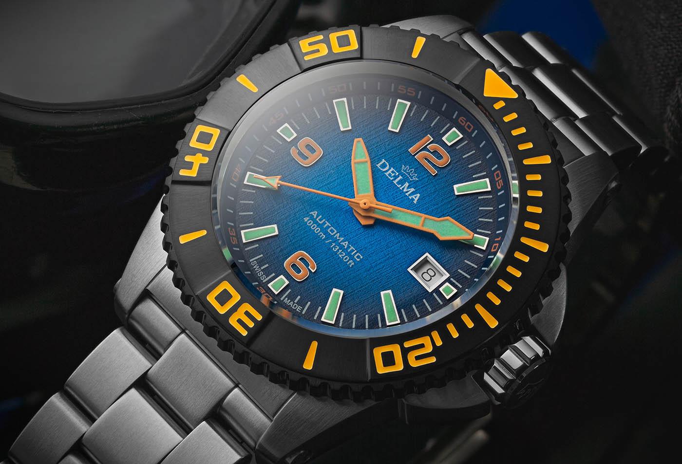 Delma анонсирует серию часов для дайвинга Blue Shark III Azores