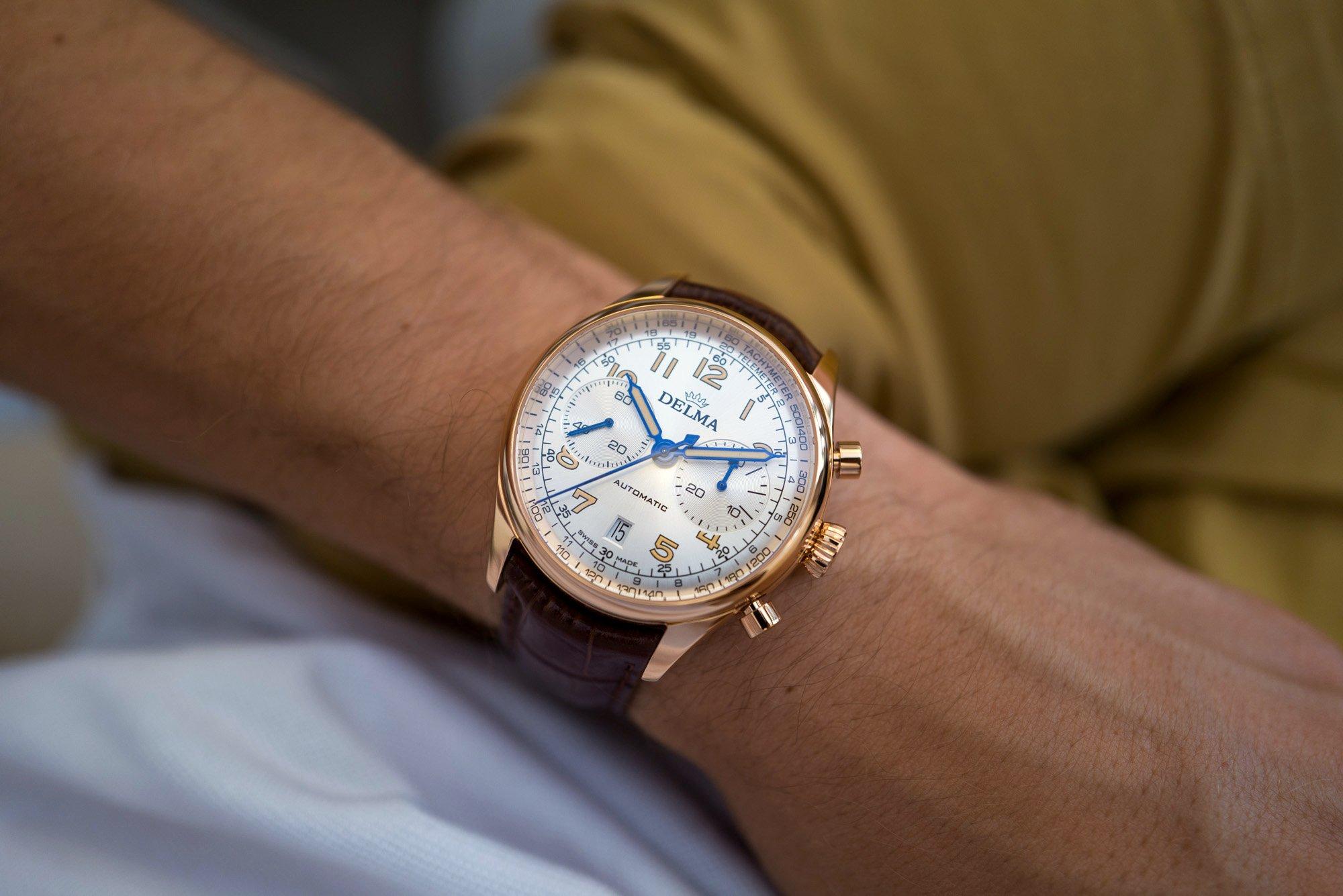 Обзор часов: хронограф Delma Heritage