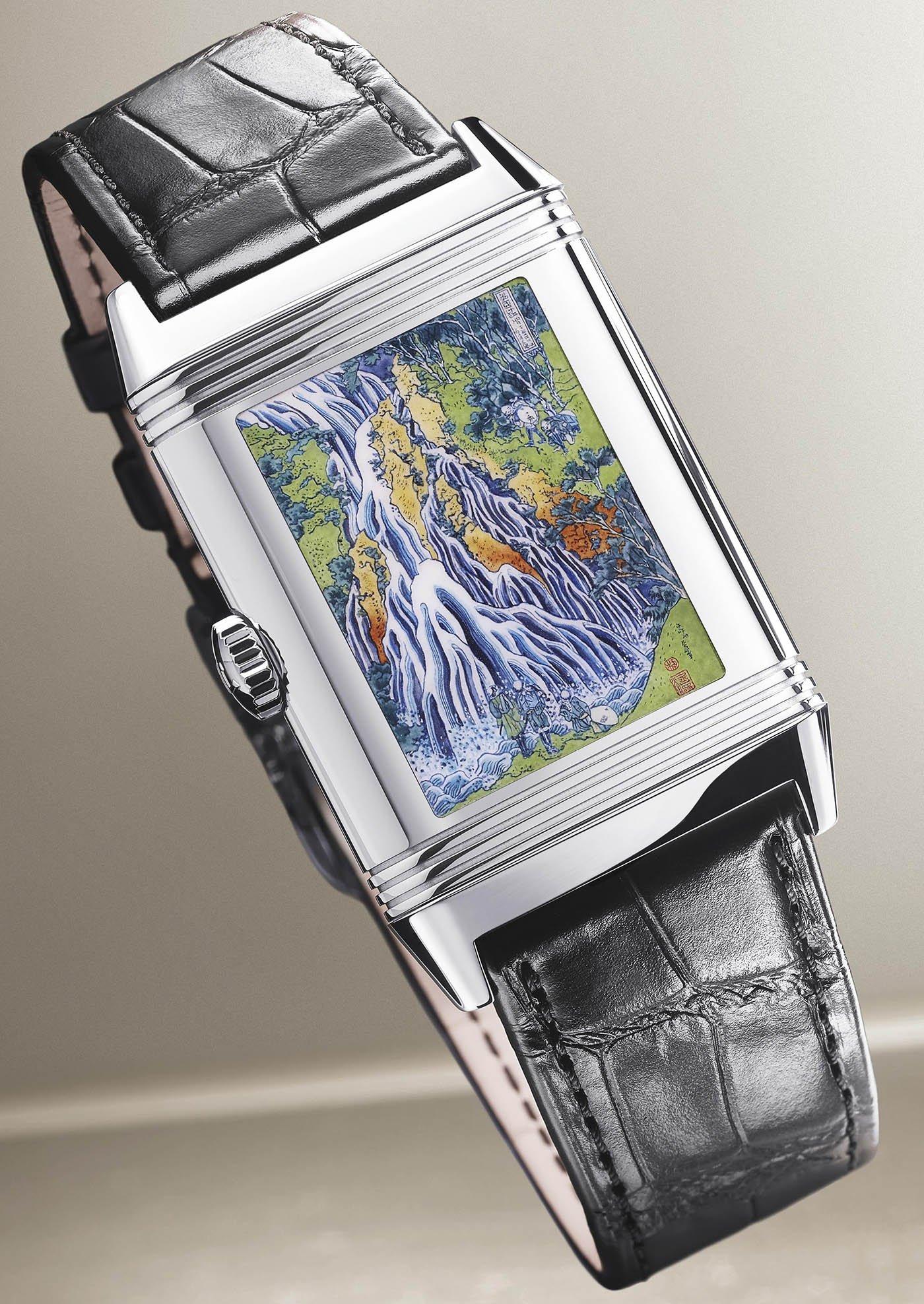 Jaeger-LeCoultre представляет лимитированную серию часов Reverso Tribute Enamel Hokusai 'Kirifuri Waterfall' Watch