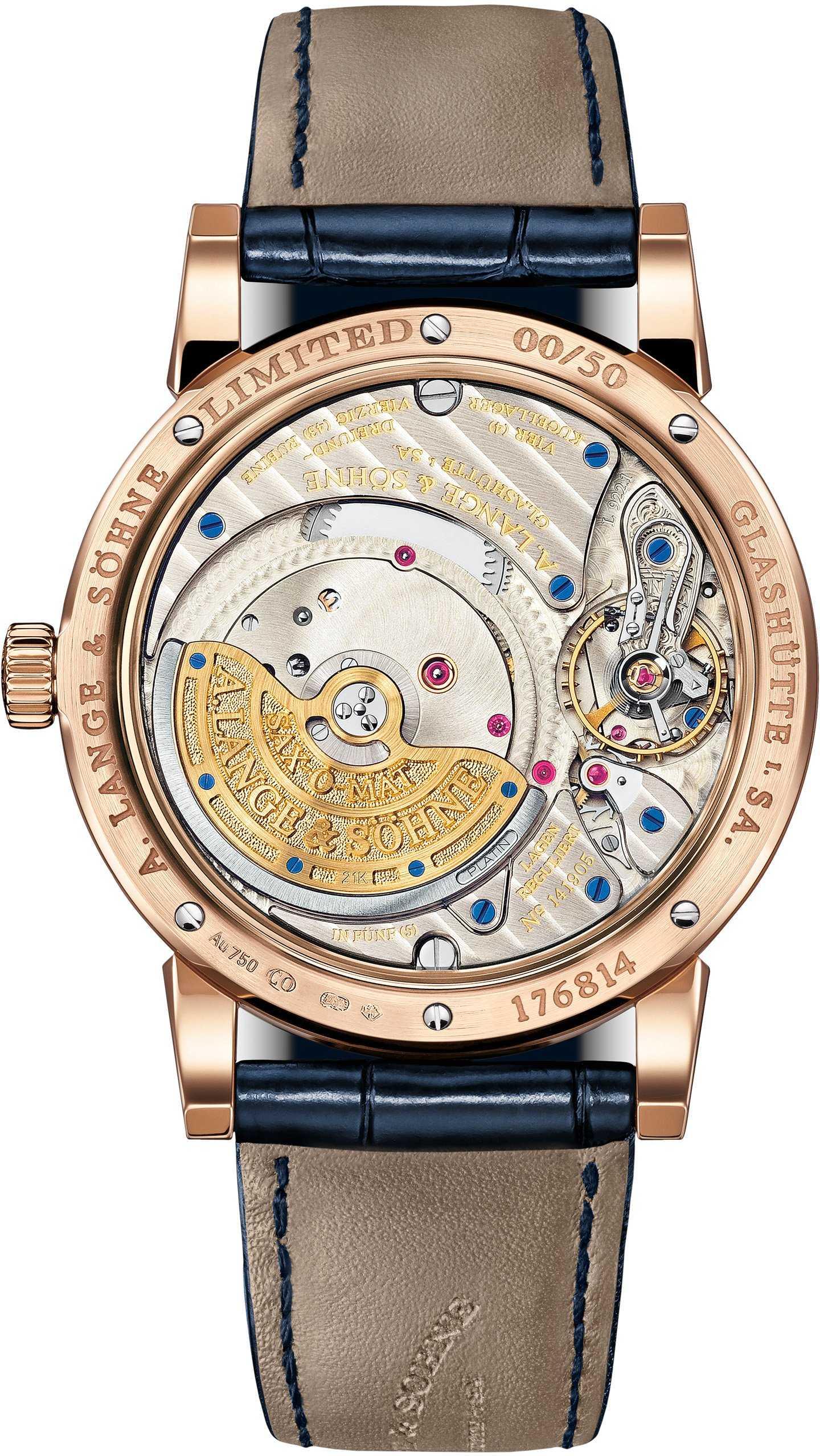 Часы лимитированной серии синего цвета: A.Lange & Söhne Langematik Perpetual