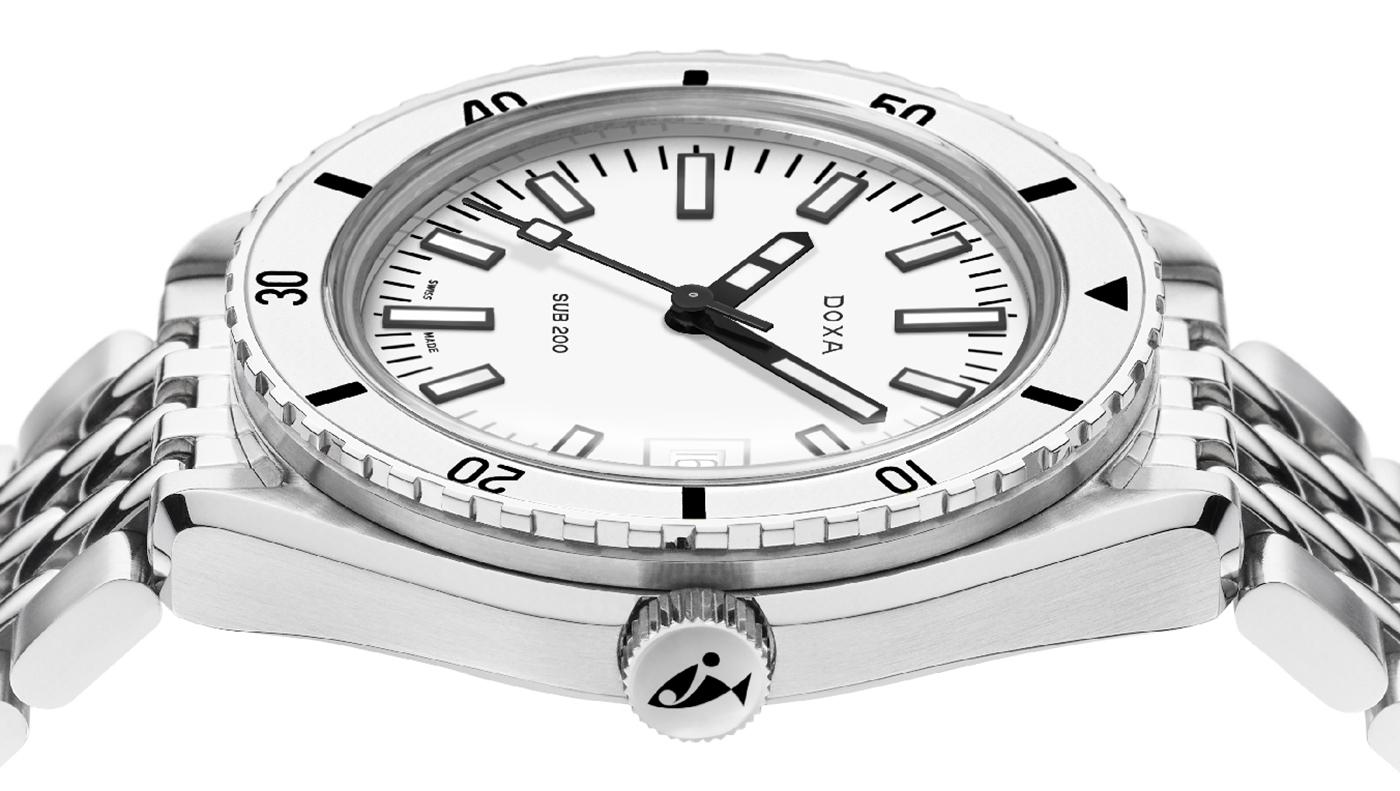 Doxa представляет дайверские часы Sub 200 Whitepearl