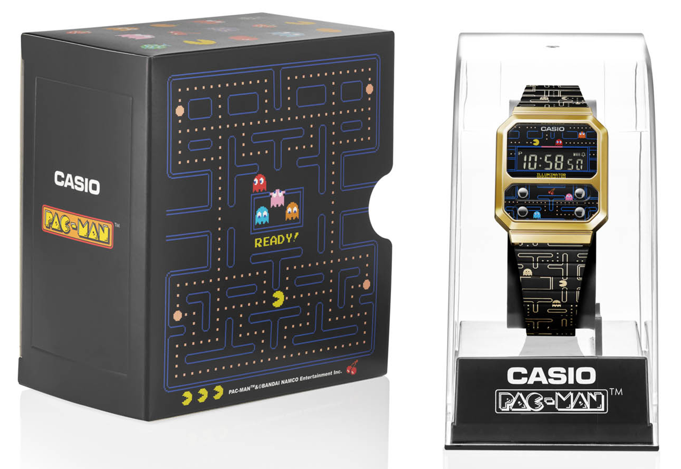 Casio представляет часы A100WEPC в сотрудничестве с PAC-MAN