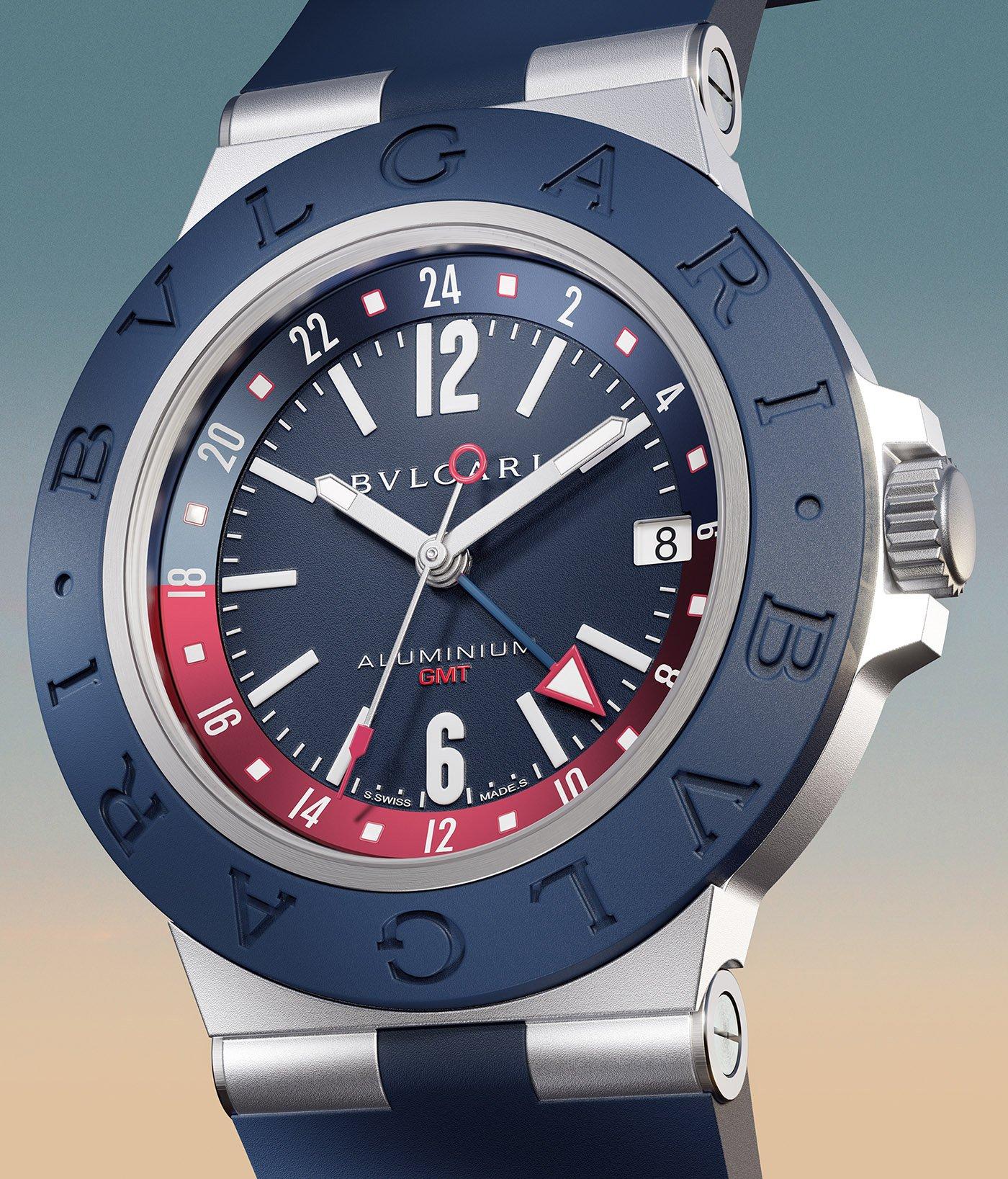 Bulgari представляет алюминиевые часы GMT