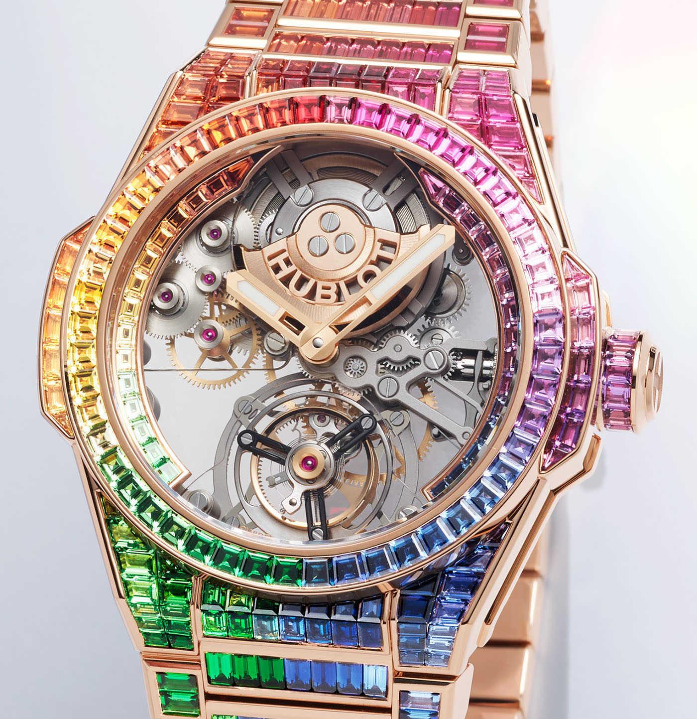Hublot представляет часы Big Bang Integral Tourbillon Rainbow