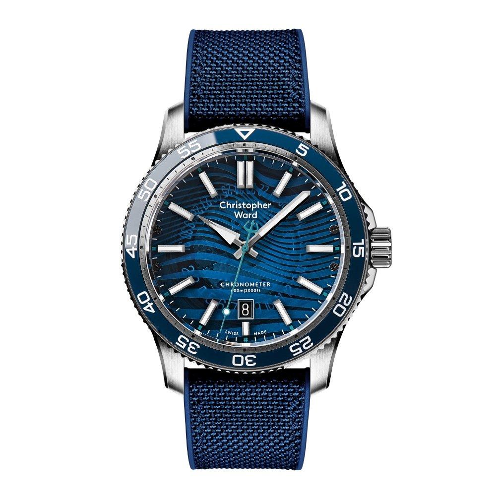 Новые часы Christopher Ward C60 #tide с ремешком из переработанного материала Ocean