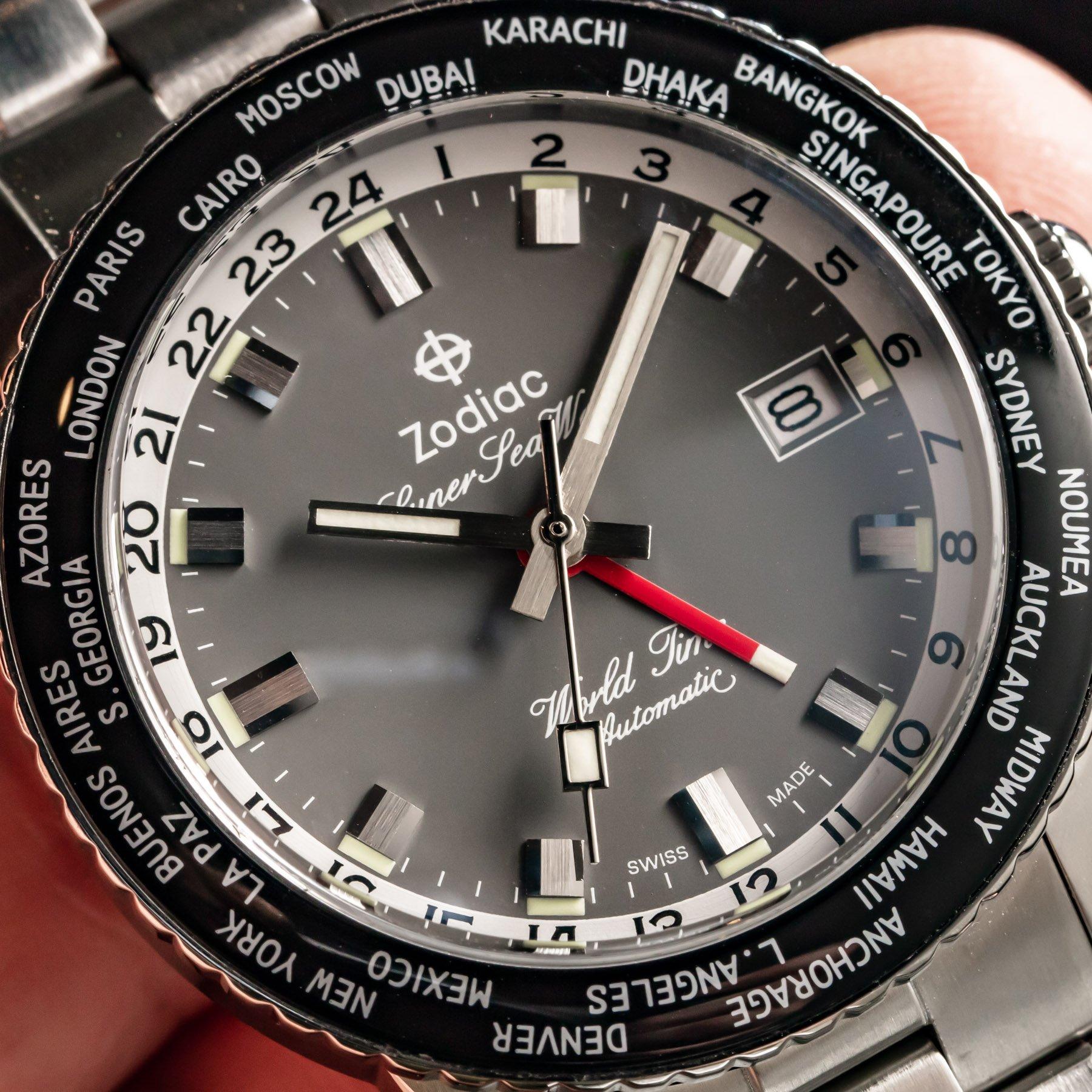 Дебют на руке: Ограниченная серия часов Zodiac Super Sea Wolf с мировым временем