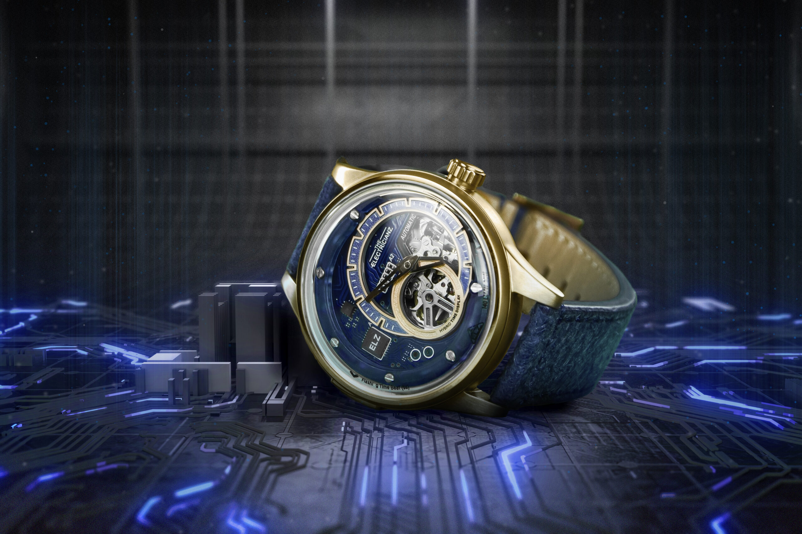 Гибридный механический дисплей времени Electricianz