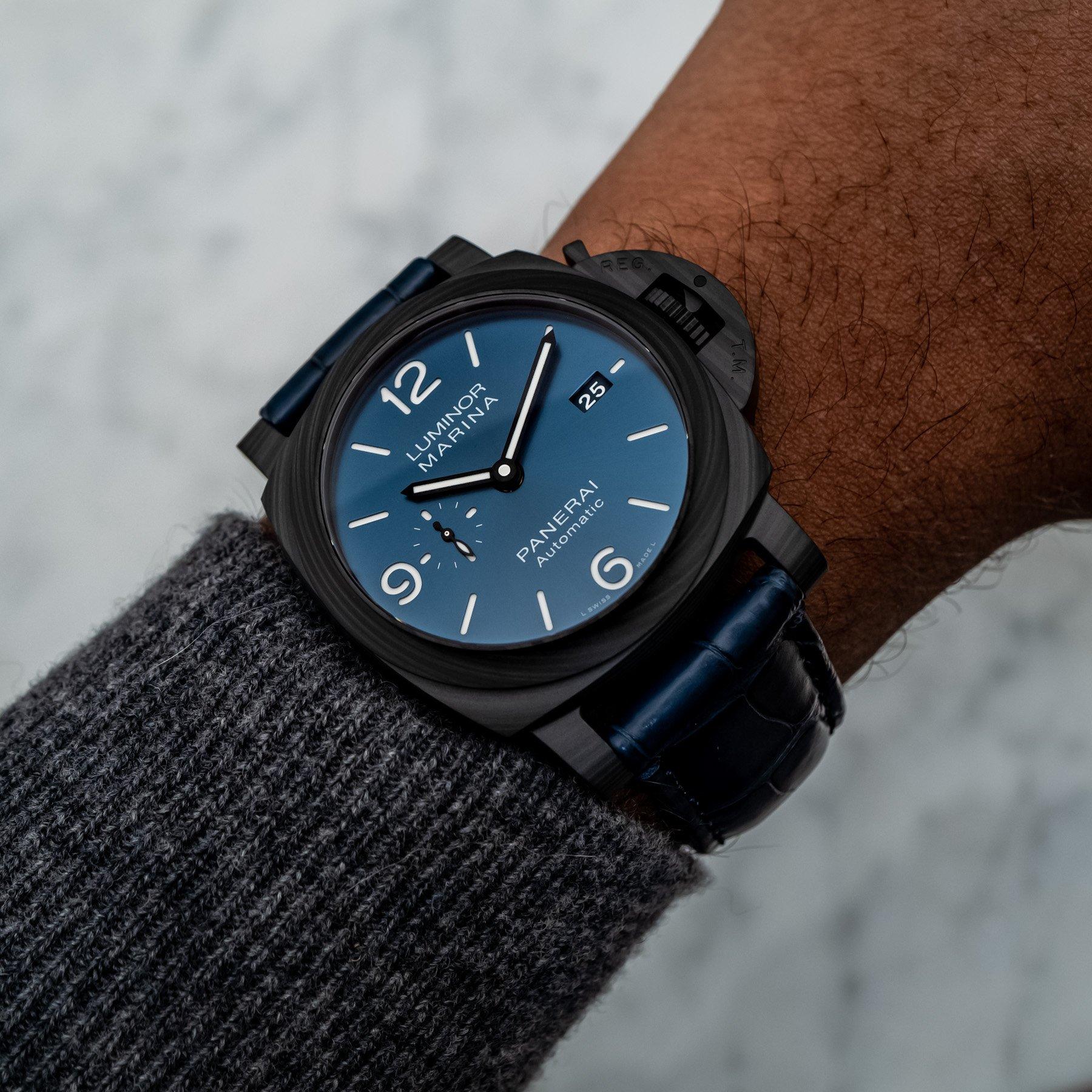Часы Panerai Luminor Marina Carbotech Blu Notte PAM1664