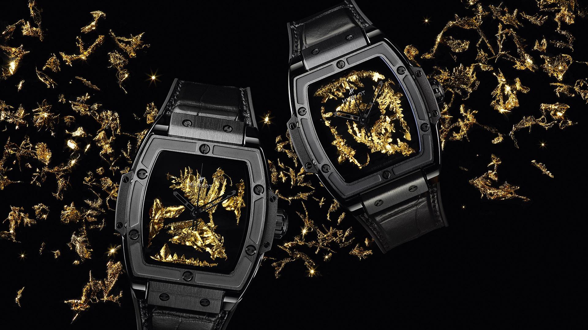 Hublot представляет часы Spirit Of Big Bang с золотыми кристаллами