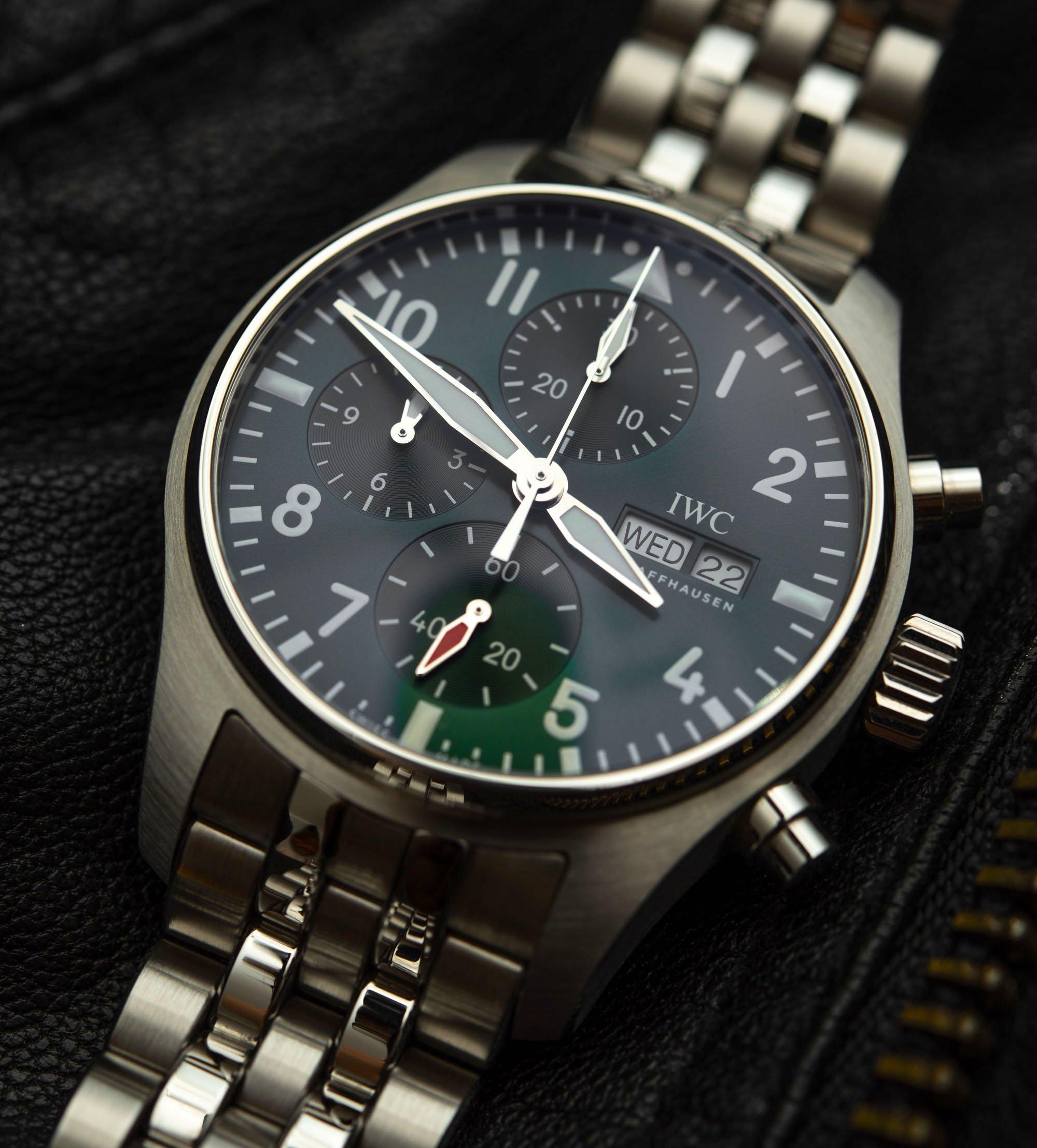Обзор часов: IWC Pilot's Watch Chronograph 41 с зеленым циферблатом