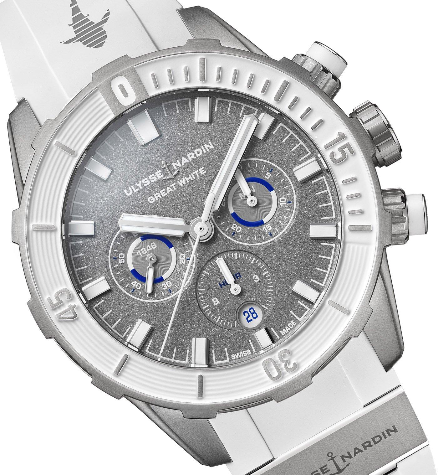 Ulysse Nardin представляет хронограф Diver Chronograph 44 мм ограниченной серии Great White Watch