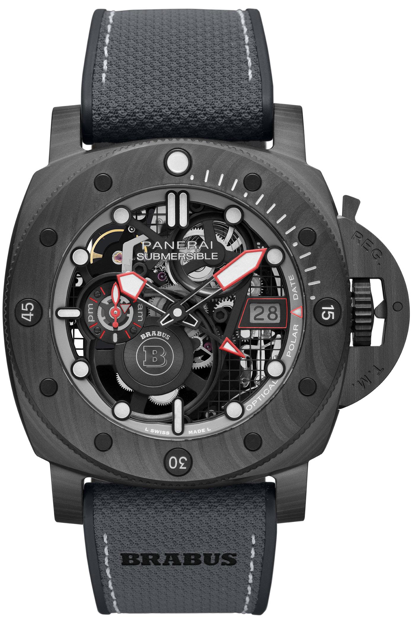 Panerai выпускает лимитированные дайверские часы S BRABUS Black Ops Edition