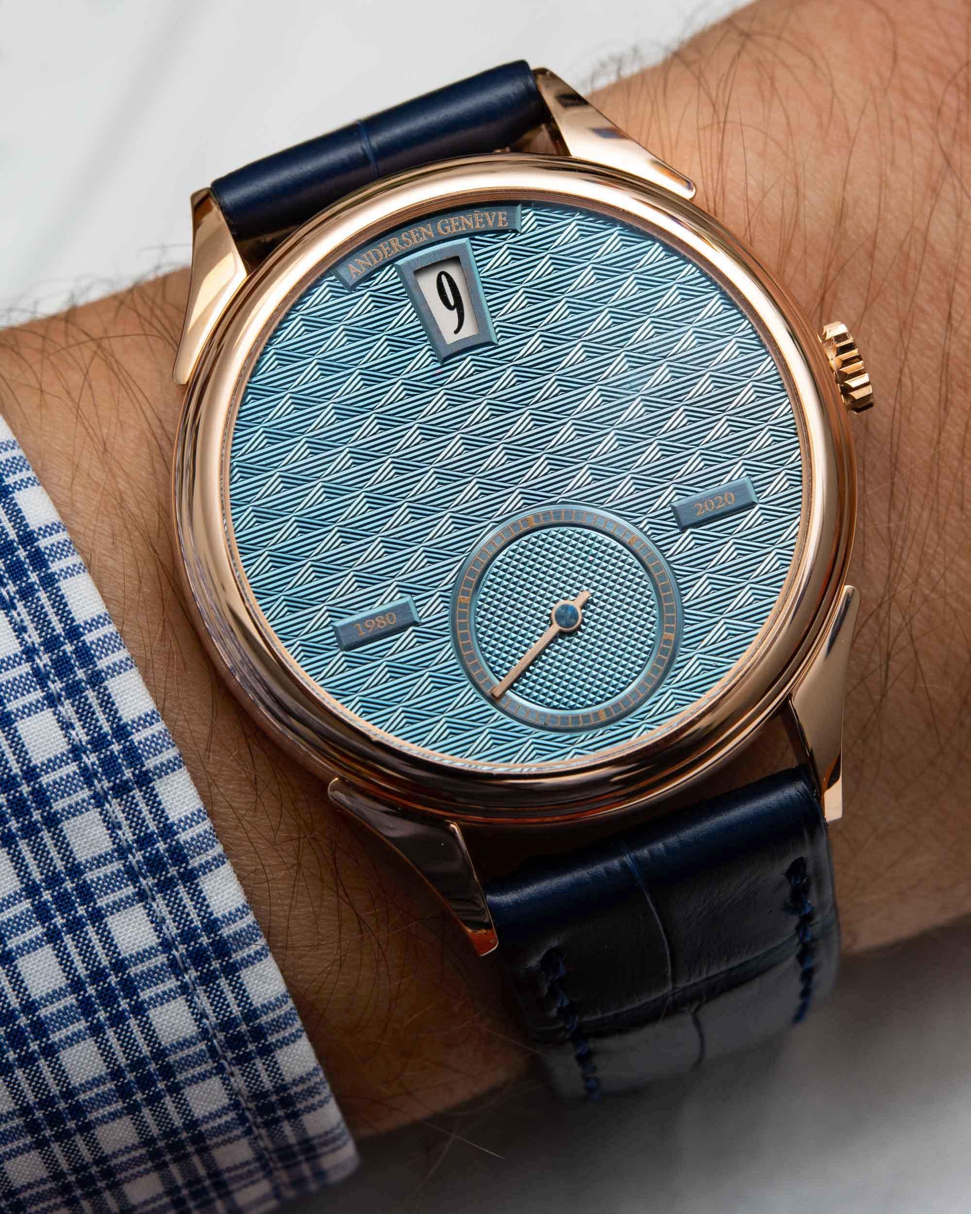 Наручные часы: часы Andersen Geneve Jumping Hours 40th Anniversary Watch